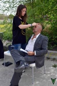 Maquillando a Cuni